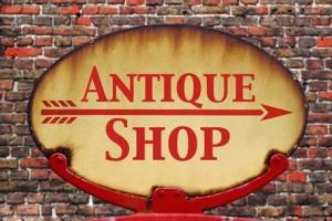 Retro sign Antique shop