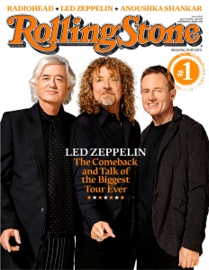 Rolling Stone magazine features rock band Led Zeppelin on one of five covers to launch its new edition in India this week, seen in this handout photo
