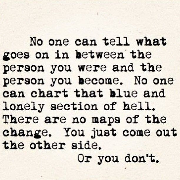 No One Can Tell....
